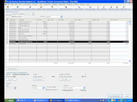 Paying Bills in QuickBooks