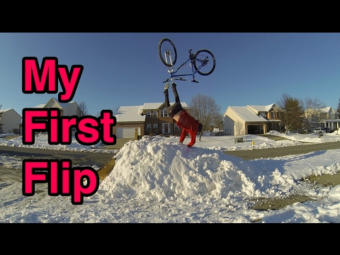 Learning How To Backflip On a Bike