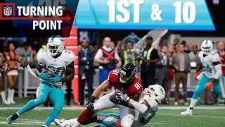 Dolphins Overcome a 17-Point Halftime Deficit to Defeat the Falcons (Week 6) | NFL Turning Point
