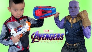 Download AVENGERS 4 ENDGAME Epic Spider Gear Fight With Thanos CKN Toys Video