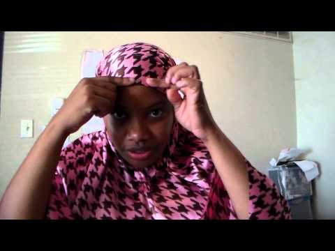 Muslimah sewing: How to make a tie back Khamir Part 3
