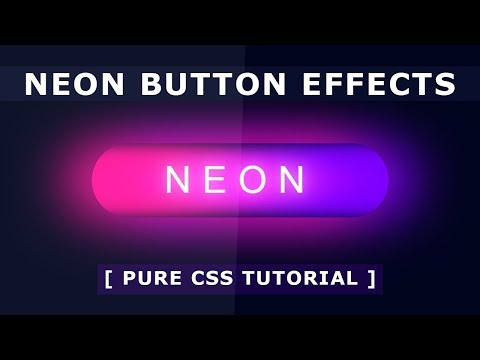 CSS Neon Button Hover Effects - Pure CSS Glowing Button on Hover - Tutorial