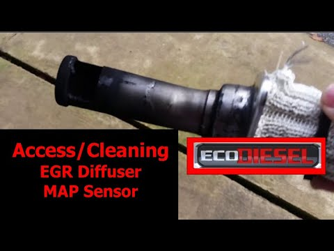 Ram Ecodiesel EGR diffuser/MAP sensor cleaning and location