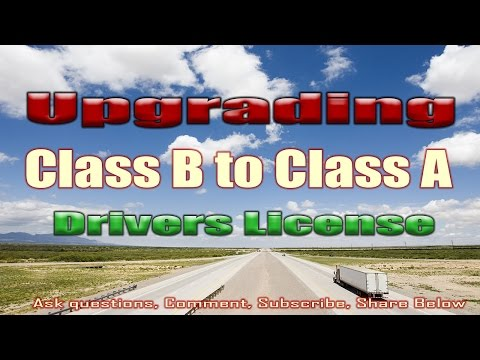 Mailbag - Upgrading From Class B to Class A license