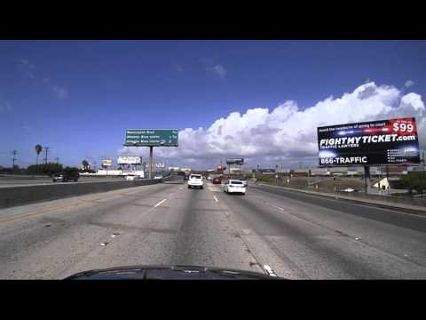 Anaheim to Hollywood ... Los Angeles Freeway Timelapse