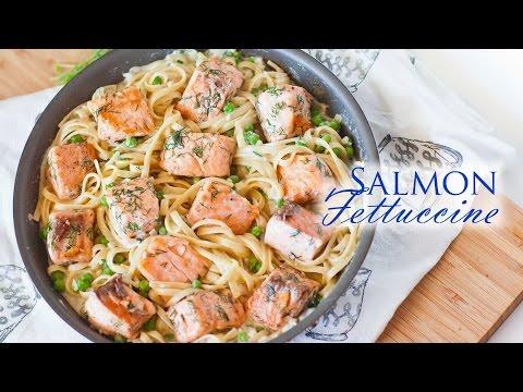 Salmon Fettuccine