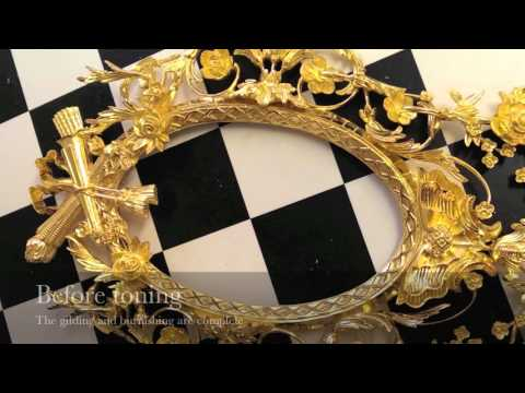 Hand carved giltwood mirrors inspired by our archives