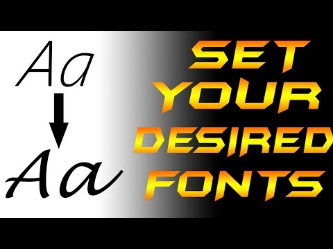 How to change Font Style of your PC of any Windows version [7,8.1,10]  | Set Your Desired Fonts |