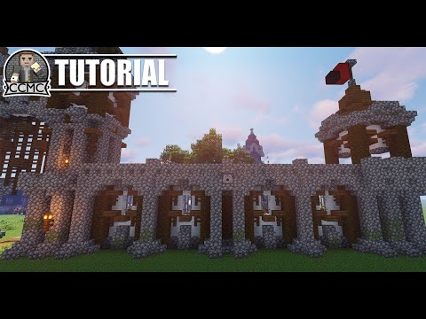 Medieval Rustic City Wall Minecraft Video Tutorial