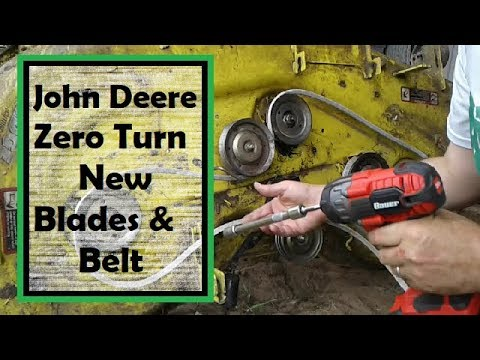 How to Install new Blades and Belt on your John Deere Zero Turn Mower