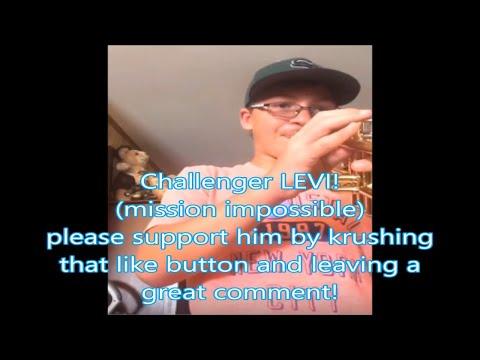 Challenger LEVI mission impossible trumpet challenge by Kurt Thompson