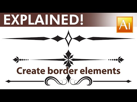 Adobe Illustrator Tutorial - How to create calligraphic border elements