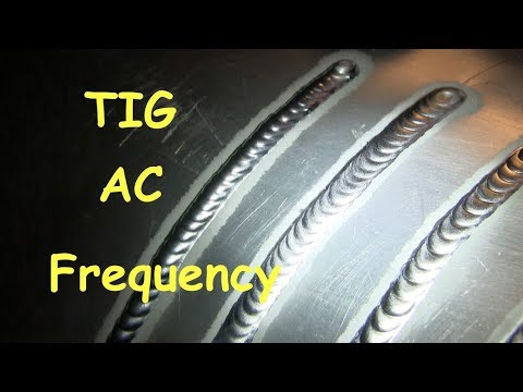 TIG Welding Aluminum at 50hz vs 250hz