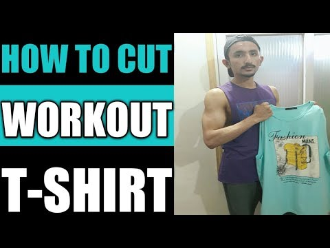 How to cut a Regular T-shirt to workout Top Tank |Abdullah shaikh Aesthetics|🔥