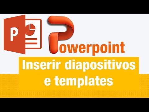 Inserir diapositivos e templates no Microsoft PowerPoint 2003