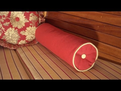 How to Make a Neckroll Pillow with Piping