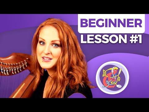 Irish Harp Lesson 1: Correct Hand & Finger Position + 'Placing' Intro