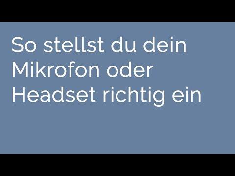 Mikrofone & Headsets richtig einstellen - Windows-Tutorial (Deutsch, HD)