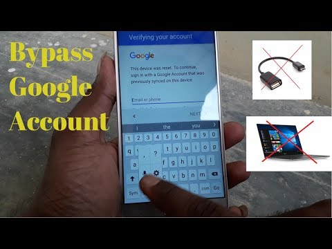 Easy Way To Bypass Google Account Samsung (not required OTG PC)