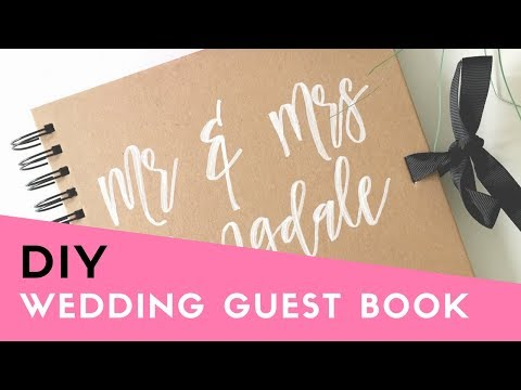HOW TO: Make your own Wedding Guest Book (Cheap & Easy DIY Tutorial)