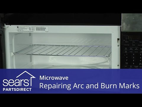 How to Repair Microwave Arc and Burn Marks-Touch Up Paint