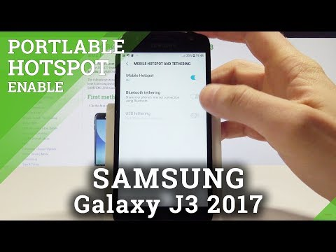 How to Enable Portable Hotspot on SAMSUNG Galaxy J3 2017 - Create Wi-Fi Hotspot