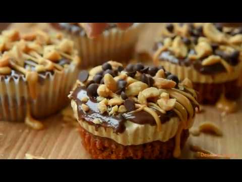 ALMOST NO BAKE MINI CHOCOLATE PEANUT BUTTER PIES - EASY RECIPE