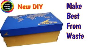 Download How to reuse waste Shoe Boxes to make useful things#Shoe Box craft#Best out of waste craft idea# Video