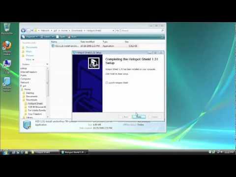 Hotspot Shield download free 2012  [ Tutorial ]