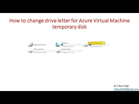How to change drive letter for Azure Virtual Machine temporary disk