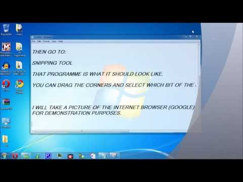 How to take a screenshot Windows 7