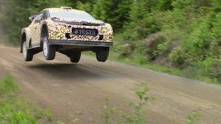 Citroen C3 WRC 2017 test in FINLAND
