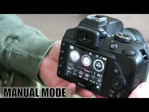 How to use manual mode on a Nikon D3400