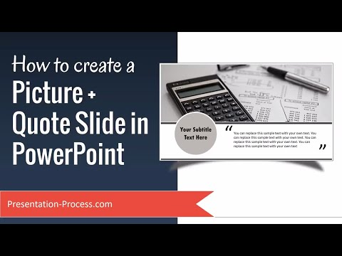 How to create Picture plus Quote slide in PowerPoint