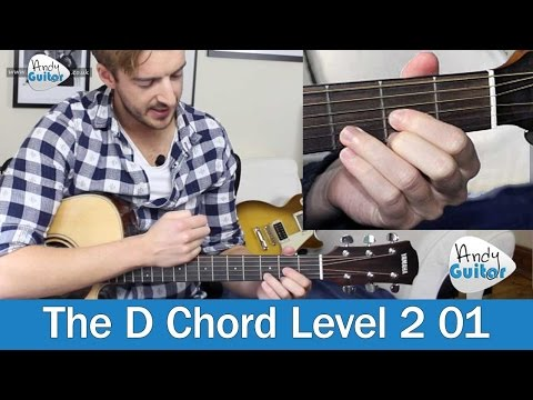 How to play the D Chord on Guitar (Beginner Course Level 2 01)