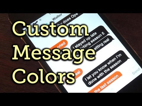 Change Your Message Bubble & Text Colors in iOS 7 - iPad, iPhone [How-To]
