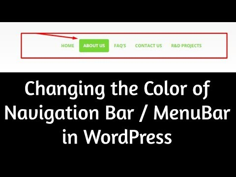How to Change Color Of Menu Text In Wordpress