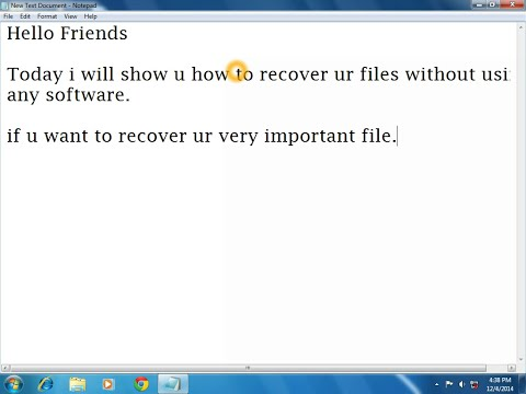 How to easily to recover permanently deleted files easily without any software.
