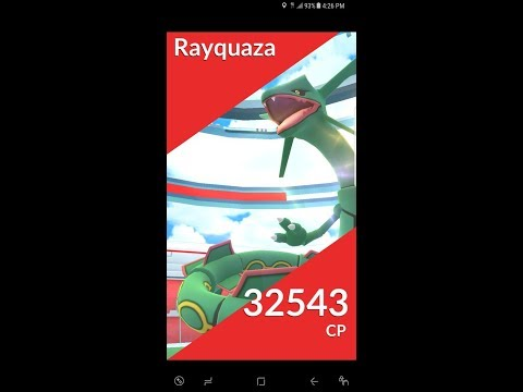 My First Rayquaza battle (Pokemon GO)