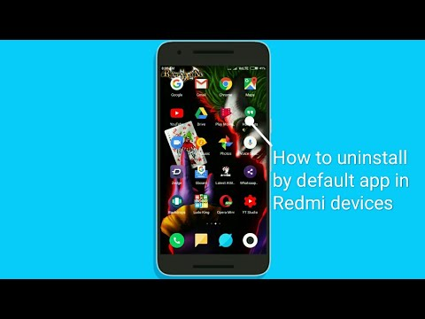 How to uninstall by default apps without root in Redmi devices...