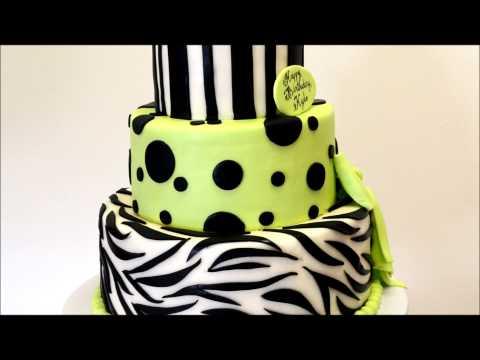 Zebra Theme Cake - Zebra Birthday Cake - Zebra Cake Ideas