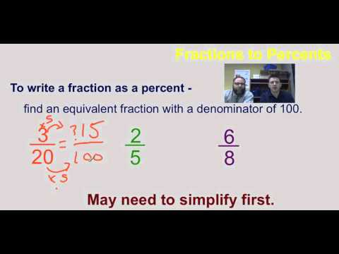 Percents and Fractions Lesson   video