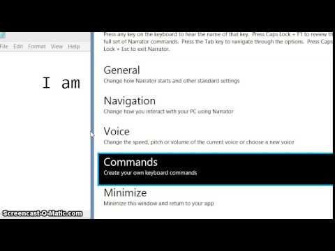 Video tutorial - How to use text to speech in windows 8