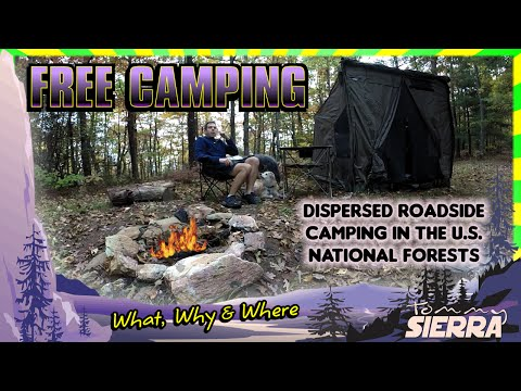 Free Camping in the US National Forests. The What, Why & Where to dispersed roadside camping