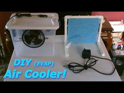 DIY Evap. Air Cooler! - Tote Evap. AC AIr Cooler! (fits in a Window!) or Desktop -can be solar pwrd!