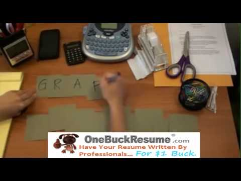 Creating a High School Graduate Resume - OneBuckResume