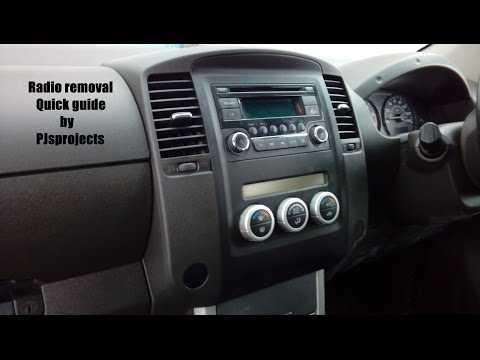 Nissan Navara 2004 - 2015 radio quick removal guide includes steering controls