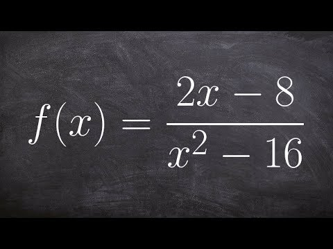 How to find the vertical and horizontal asymptotes of a rational function