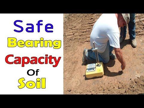 Safe Bearing Capacity of Soil | Bearing capacity of soil |