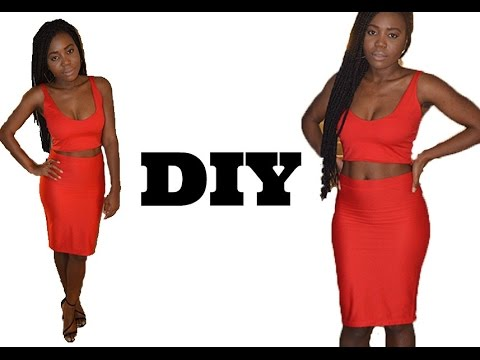 How To Make A Two Piece Bodycon Dress ( Easy Sewing)